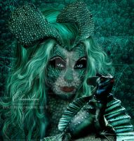 Chameleon by babsartcreations