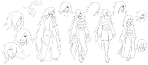 Midori character design concepts by FireEagleSpirit