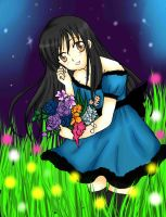 Linita and her flowers by Nome-chan
