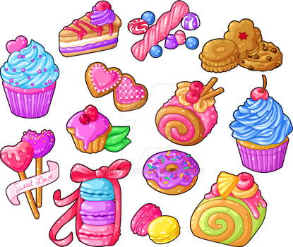 Colorful Sweets by Lunie-Chan