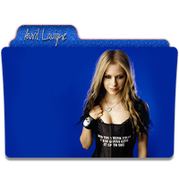 Avril Lavigne Folder Icon 3 by gterritory