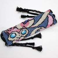 Sylveon 1.5 inch Friendship Bracelet by CarrieBea