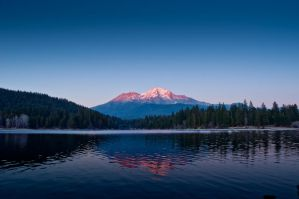 Siskiyou Lake and Mt. Shasta by snowman96019