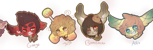 Gummi Sticker Headshots by Death-and-Dreams