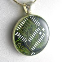 Gorgeous Eco Green Necklace by Techcycle