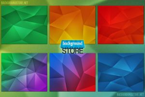 Polygon Backgrounds Bundle by BackgroundStore