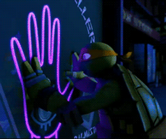 (GIF) Mikey - The hand... the EYE by LumosLightning