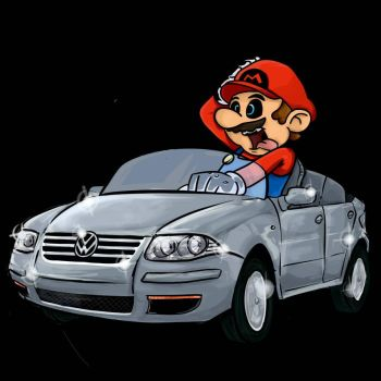 Mario in a WV Bora by h2roses