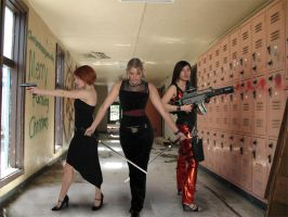 Charlies Angels Back 2 school by Dragon-Kiss