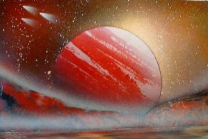 Red Moon Photopaper by RiensArtwork