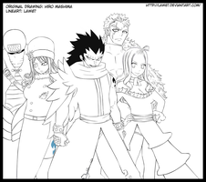 Fairy Tail B team line by Law67