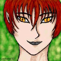 Elven chick with cat eyes by lashana