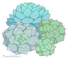 Pixel Succulents [ftu] by MoonstarDraws