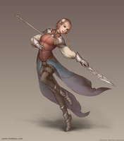 Spearwoman by Marfrey