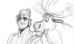Kristoff and Sven by zPePhungz