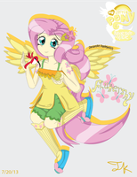 Humanized Fluttershy by Arteses-Canvas