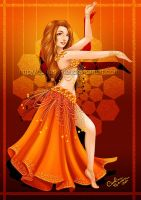 Orange Dancer by Queen-Uriel