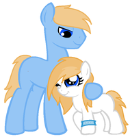 Kyra and Her daddy by charityanna
