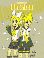 Kagamine Twins Rin and Len by toki28