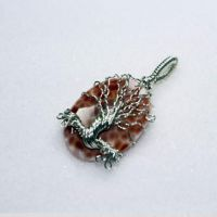Crab Agate Tree of Life by Create-A-Pendant