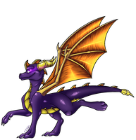 :GIFT: Spyro by Deathtail-The-DraCon
