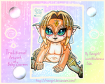 Traditional Artwork of Baby Zuureen by Rutogirl