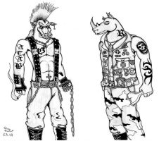 Beebop and Rocksteady by Fernoll