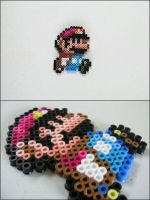 Super Mario World small Mario (walking) beadsprite by 8bitcraft