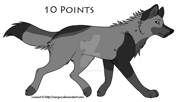 Wolf Adoptable 10 Points (CLOSED) by Animelovinggirl14