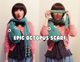 crochet epic octopus scarf tentacle pattern by hellohappycrafts