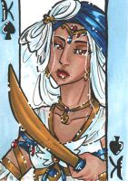 ACEO Marmaroth - King of Spades by nickyflamingo