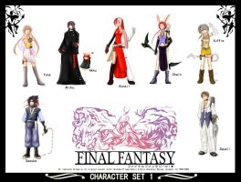 FinalFantay All Stars by omigoshi