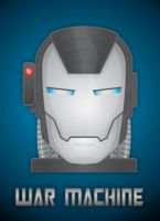 War Machine HeadShot by LegoStroke