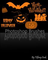 Halloween Brush Set by tiffanycook