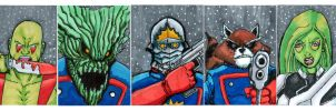 Guardians of the Galaxy Sketchcards by thEbrEEze