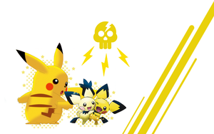 Pikachu and Pichu Background by super3011