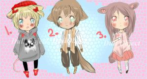 Chibi Adoptables 2 (open) ( 1 Left) by ChocoRevolution