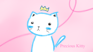Precious kitty wallpaper by AcidicFishes