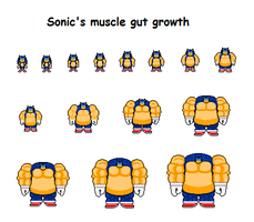 Sonic's muscle gut growth by Effra-Bulbizarre