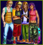 Rocket Power Crew grown up by EclecticNinja
