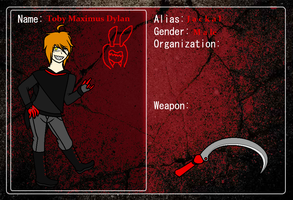 Murder Bunnies Application - Toby M. Dylan by AdorableEvil29