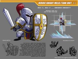 Heroic Knight - Mobile Game Test by peach-mork