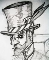 steampunk guy by GonzoTheGrey