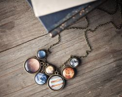 Solar system necklace by BeautySpotCrafts