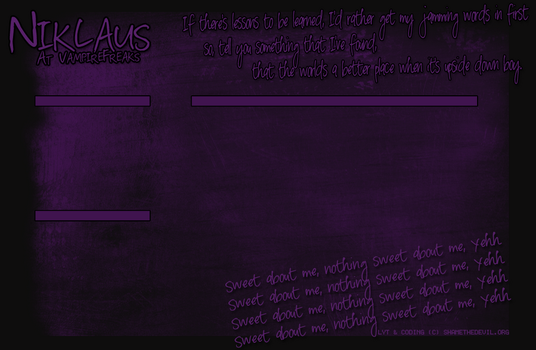Niklaus Layout : Sweet About Me by VampireBloodline