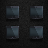 iPhone 5 FrontSide - Jaku iOS Theme by iGeriya