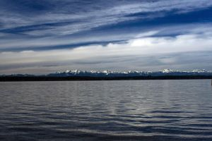 Olympic Mountains I by qmorley