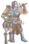 Dragonborn and her woof woof by CrunchMcbuttsteak