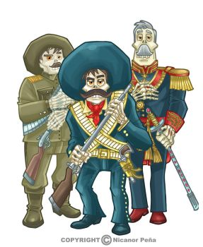 Mexican revolution heroes by pecart