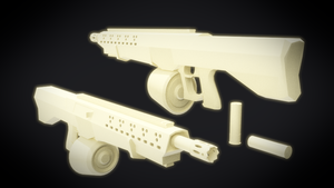 Untitled Shotgun Concept WIP (Clay Render) by MatchSignal3D